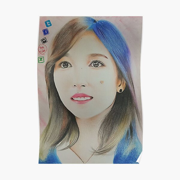 twice more and more mv sence colour pencil drawing art xszone poster by xszone redbubble