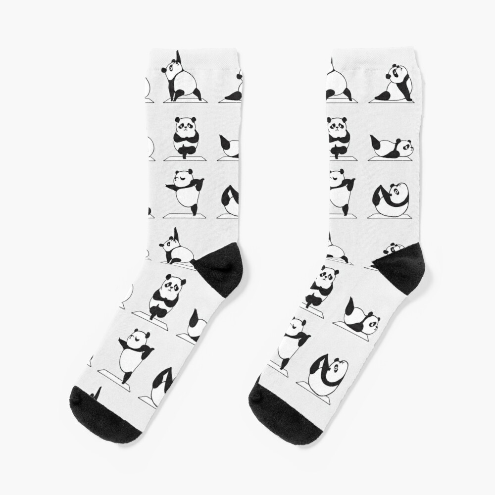 Panda Yoga Socks