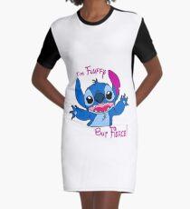 Stitch - Fluffy but fierce Graphic T-Shirt Dress