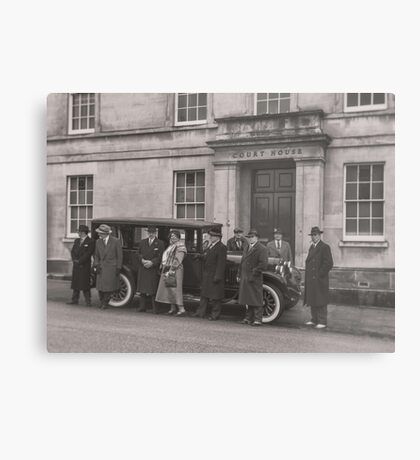 The Mob at the Courthouse Metal Print