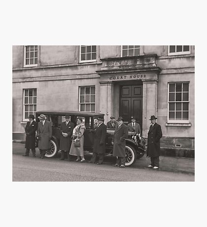 The Mob at the Courthouse Photographic Print