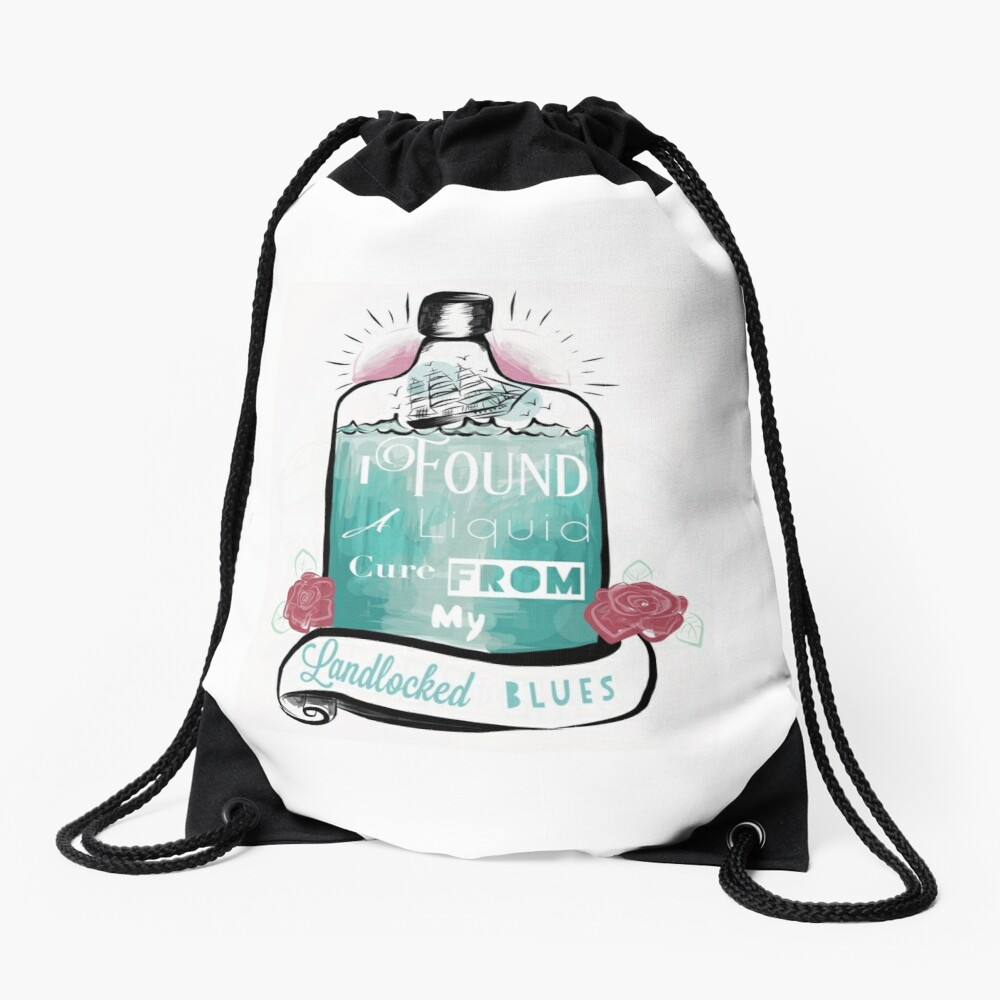 Bright eyes - sunken ship Drawstring Bag