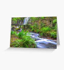 The Green Waterfall Greeting Card