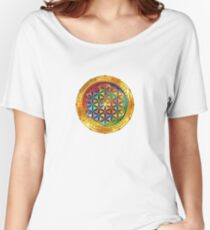 The Flower of Life - dark Women's Relaxed Fit T-Shirt