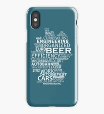 Germany in words (white text) iPhone Case