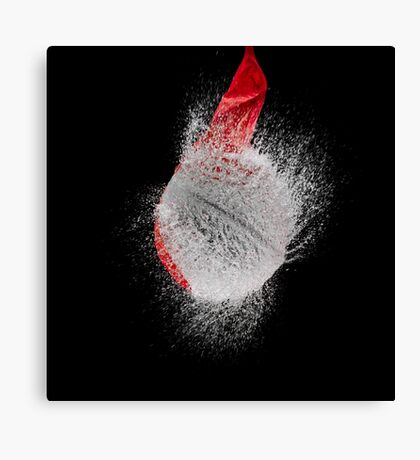 Red Balloon Pop Canvas Print