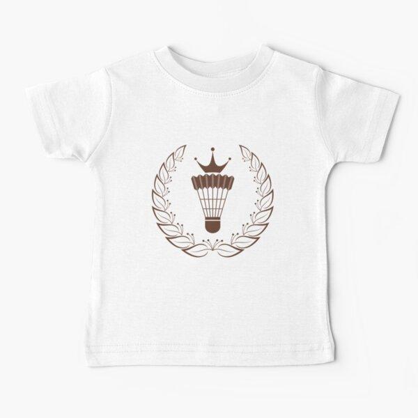 Silhouette badminton racket shuttle Baby T-Shirt
