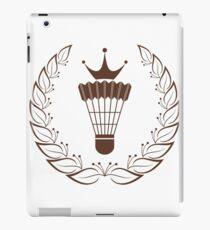 Silhouette badminton racket shuttle iPad Case/Skin