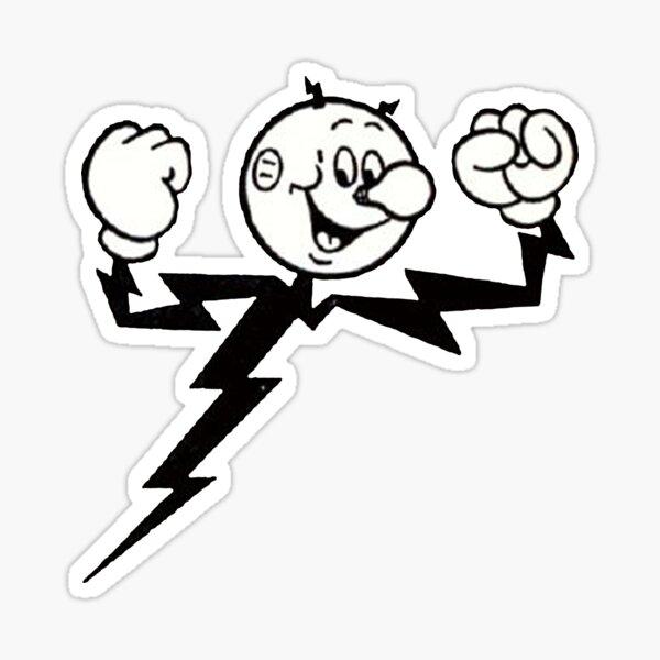 Reddy Kilowatt, your electrical servant Sticker