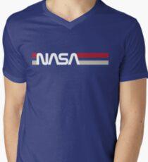 Retro NASA Men's V-Neck T-Shirt