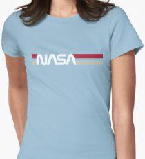 Retro-NASA Tailliertes T-Shirt für Frauen