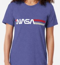 Camiseta de tejido mixto Retro NASA