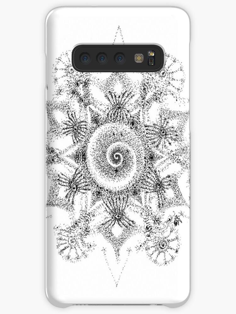 'Shiva Eyes Mandala Ink Pen Drawing' Case/Skin for Samsung Galaxy by  GOAcARToon