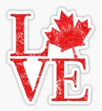 Canadian Love Affair Sticker