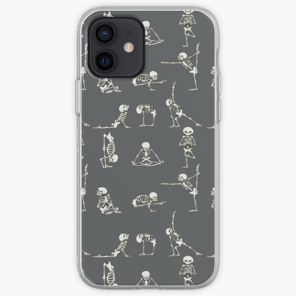 Skeleton Yoga Gray iPhone Soft Case