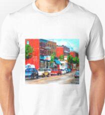 SAINT VIATEUR STREET SUMMER SCENE MONTREAL T-Shirt
