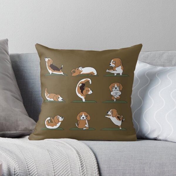 Beagle Yoga Cojín
