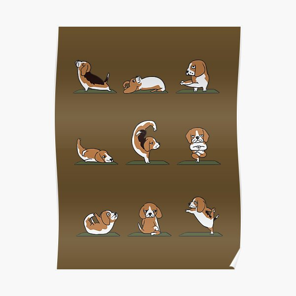 Beagle Yoga Poster