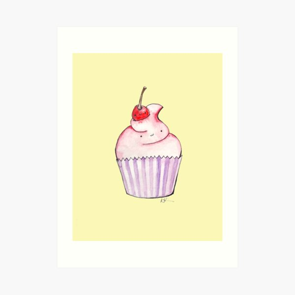 Cupcake with a Cherry on Top Art Print