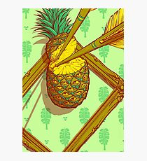 Psychedelic Pineapple Photographic Print