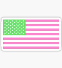 Preppy American Flag Sticker