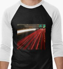 Long Exposure Highway  Men's Baseball ¾ T-Shirt