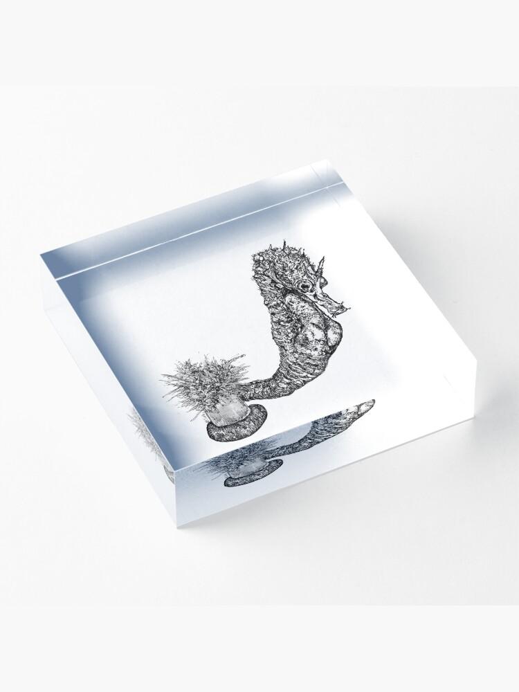 Alternate view of Fabio the Seahorse Acrylic Block