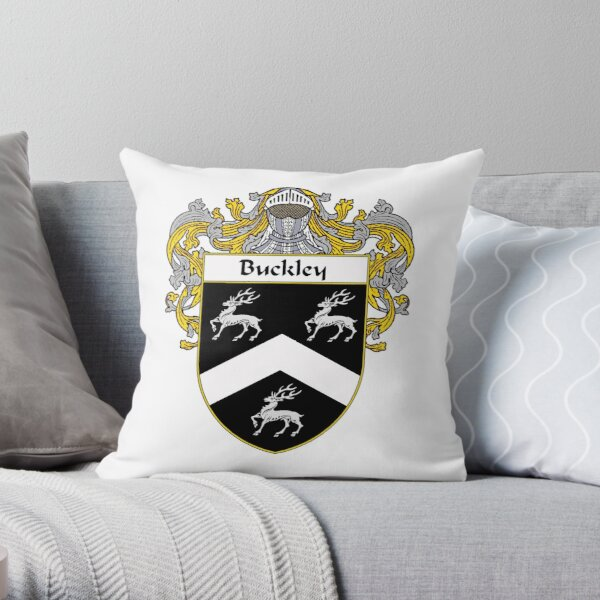 Buckley Coat of Arms/Family Crest Throw Pillow
