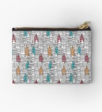 Beautiful European city and buildings Studio Pouch
