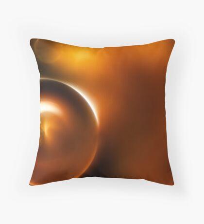 Warm Bokeh Throw Pillow
