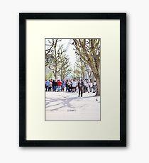 Stan Lee & The Pigeon  Framed Print