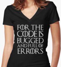 Camiseta entallada de cuello en V Porque el código tiene errores y está lleno de errores ...