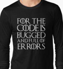 Camiseta de manga larga Porque el código tiene errores y está lleno de errores ...