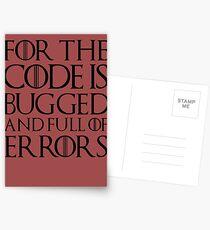 Postales Porque el código tiene errores y está lleno de errores ...