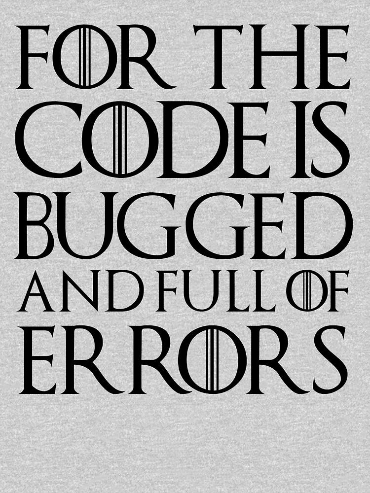 Porque el código tiene errores y está lleno de errores ... de herbertshin