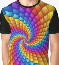 Psychedelic Spiral Fractal  Graphic T-Shirt