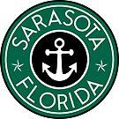 SARASOTA FLORIDA ROUND NAUTICAL STAR ANCHOR by MyHandmadeSigns