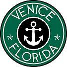 VENICE FLORIDA ROUND NAUTICAL STAR ANCHOR by MyHandmadeSigns