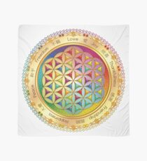 The Flower of Life - light with framing Scarf