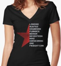 Code Comply Of Winter Soldier Women's Fitted V-Neck T-Shirt