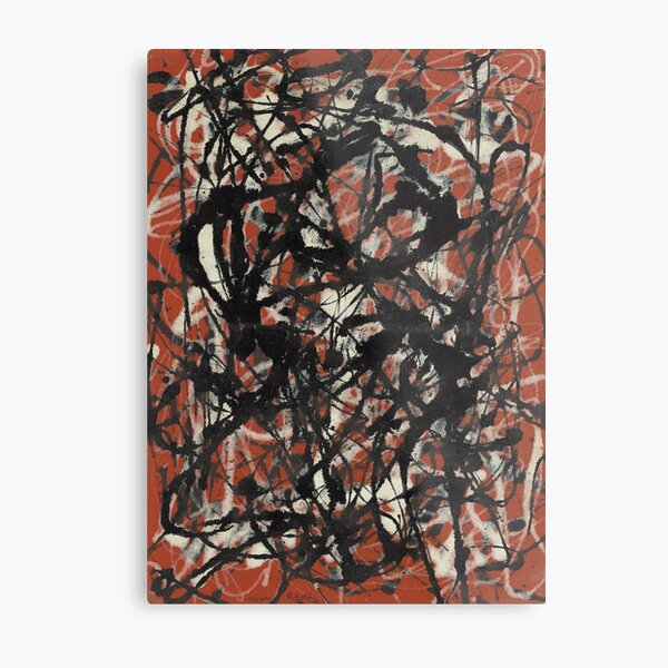 Free Form by Jackson Pollock. Abstract Expressionist painting. Metal Print