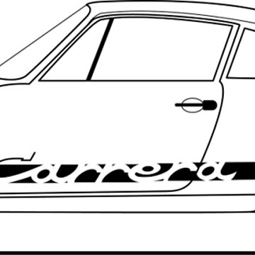 Line art - early 911 by diamondhell