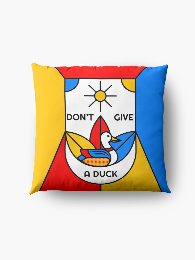 Alternate view of Don't Give a Duck - The Subtle Art of Not Giving a Fuck - I Don't Give a Fuck - I Don't Care Floor Pillow