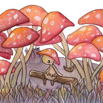 Mushroom Forest by domogatcha