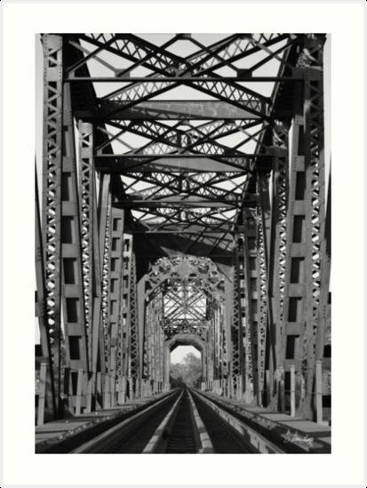 Richmond Texas Rail Road Bridge by Nathan Little