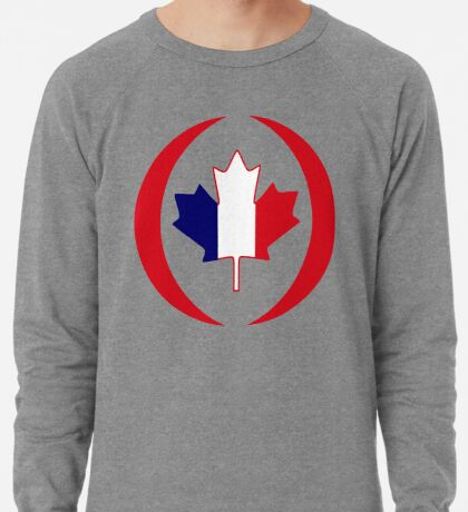 French Canadian Multinational Patriot Flag Series Lightweight Sweatshirt
