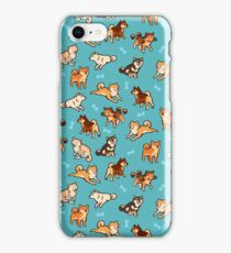 shibes in blue iPhone Case/Skin