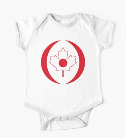 Japanese Canadian Multinational Patriot Flag Series Kids Clothes