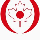 Japanese Canadian Multinational Patriot Flag Series by Carbon-Fibre Media