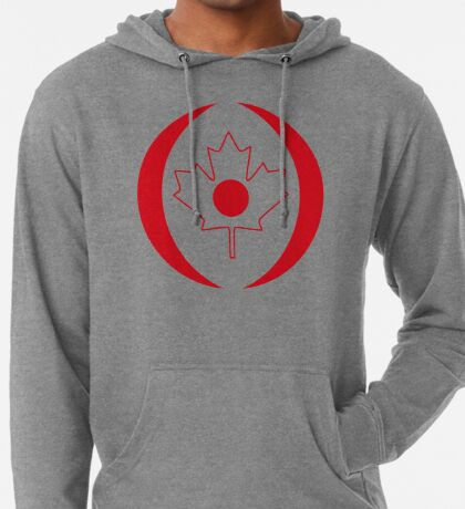 Japanese Canadian Multinational Patriot Flag Series Lightweight Hoodie